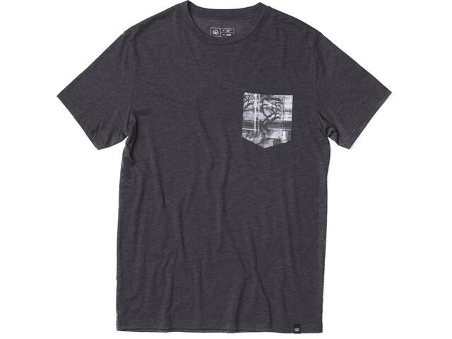 tentree Scan Taskullinen T-paita Miehet, meteorite black